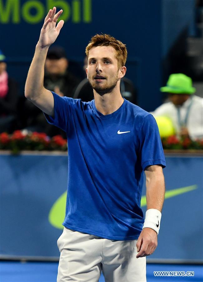 Corentin Moutet wins singles semifinal match against Stan Wawrinka at Qatar Open