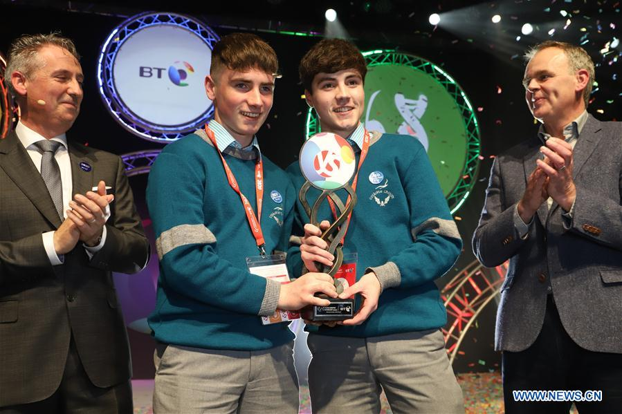 Two young scientists awarded top prize for their joint project at BT Young Scientist & Technology Exhibition  in Ireland