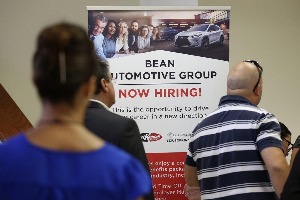 US adds 145,000 jobs; unemployment holds at 3.5 pct