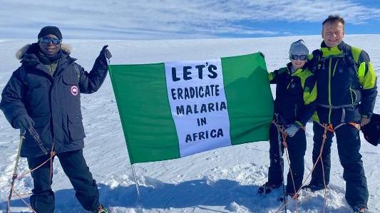 Nigerian businessman takes fight against malaria to Antarctica