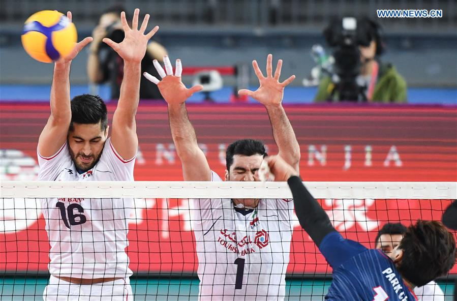 AVC men's volleyball qualification for 2020 Tokyo Olympic Games: South Korea vs. Iran