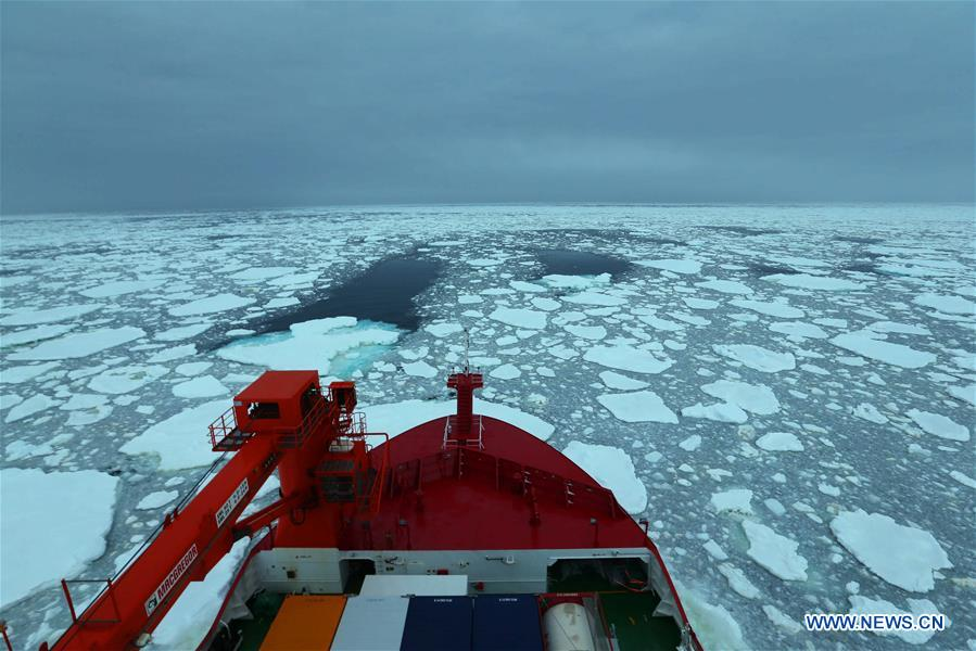 China's Xuelong 2 conducts meteorological observation during China's 36th Antarctic expedition