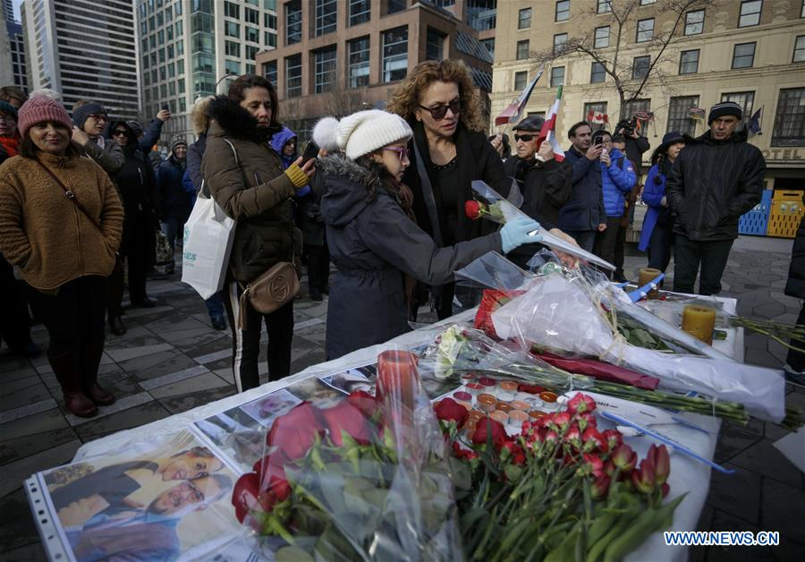 Vigil held outside Vancouver Art Gallery for victims of Ukrainian passenger plane crash