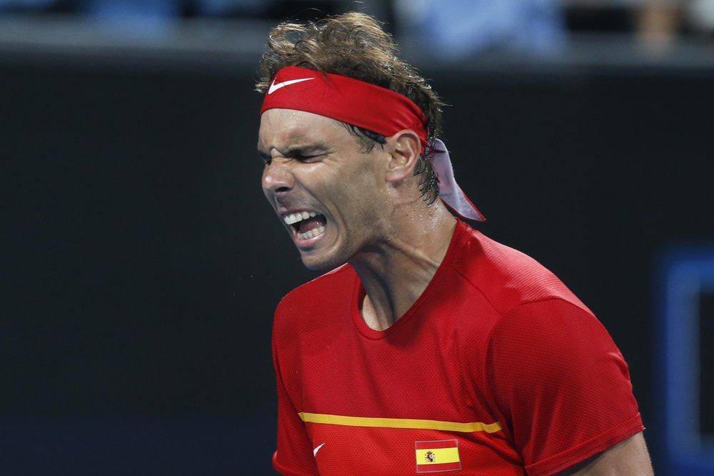Nadal leads Spain into ATP Cup final vs Djokovic's Serbia