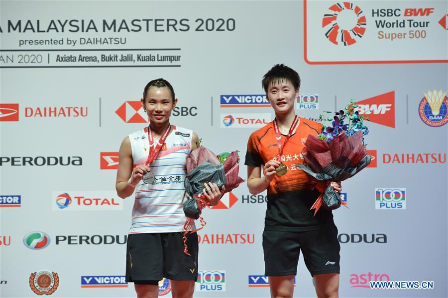 Chen Yufei wins women's singles final match at Malaysia Masters 2020