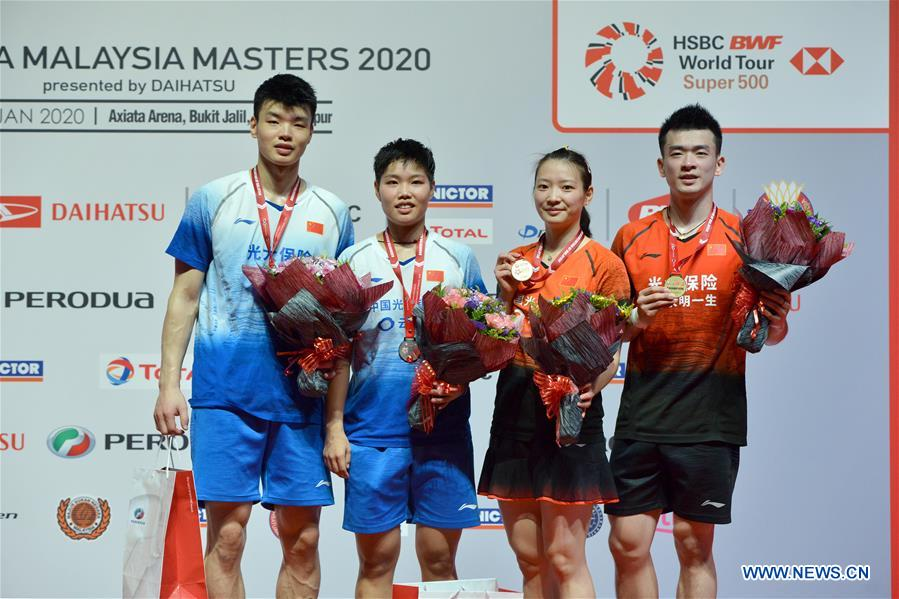 Zheng Siwei, Huang Yaqiong win mixed doubles final at Malaysia Masters 2020