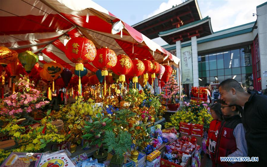 Annual Lunar New Year Flower Festival 2020 held in Westminster, US