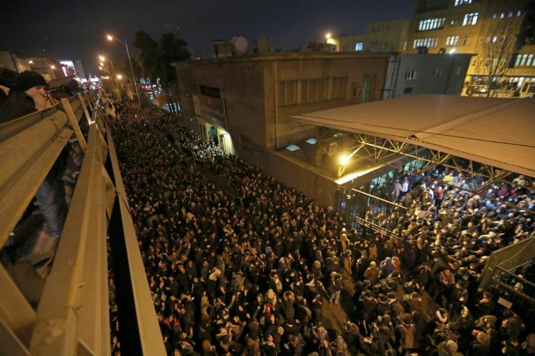 Trump warns Iran against 'massacre' as protests erupt over jetliner downing