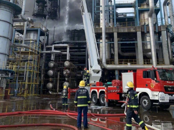 Fire breaks out in Guangdong's petrochemical firm