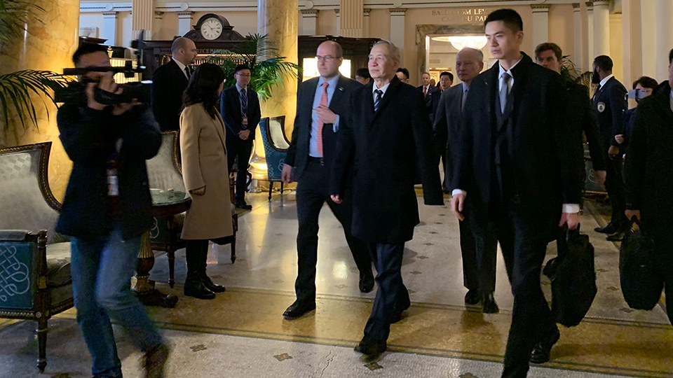 Chinese Vice Premier Liu He arrives in Washington DC for China-US 'phase one' trade deal