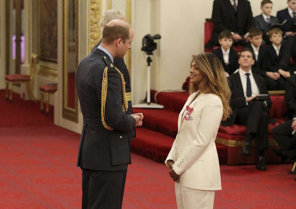 Prince William honors singer M.I.A. at Buckingham Palace