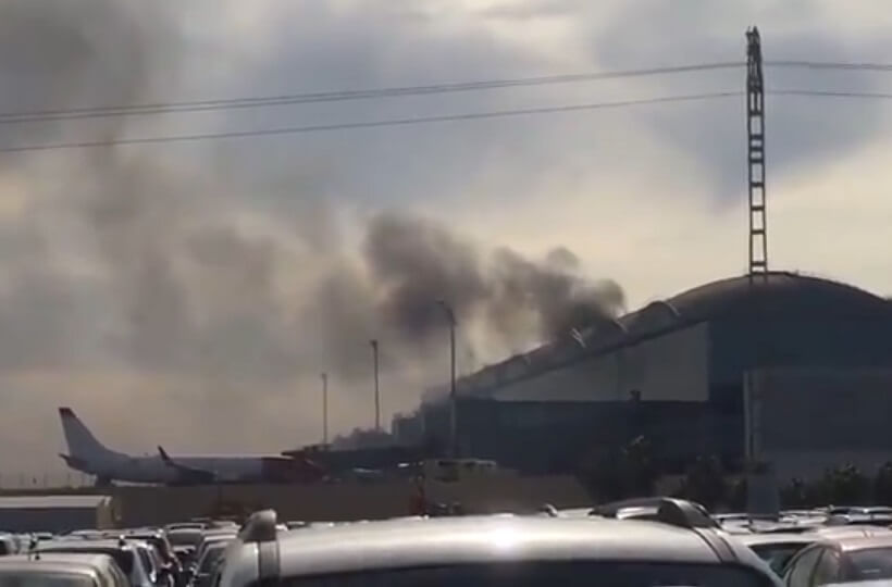 Fire breaks out at southern Spain's airport