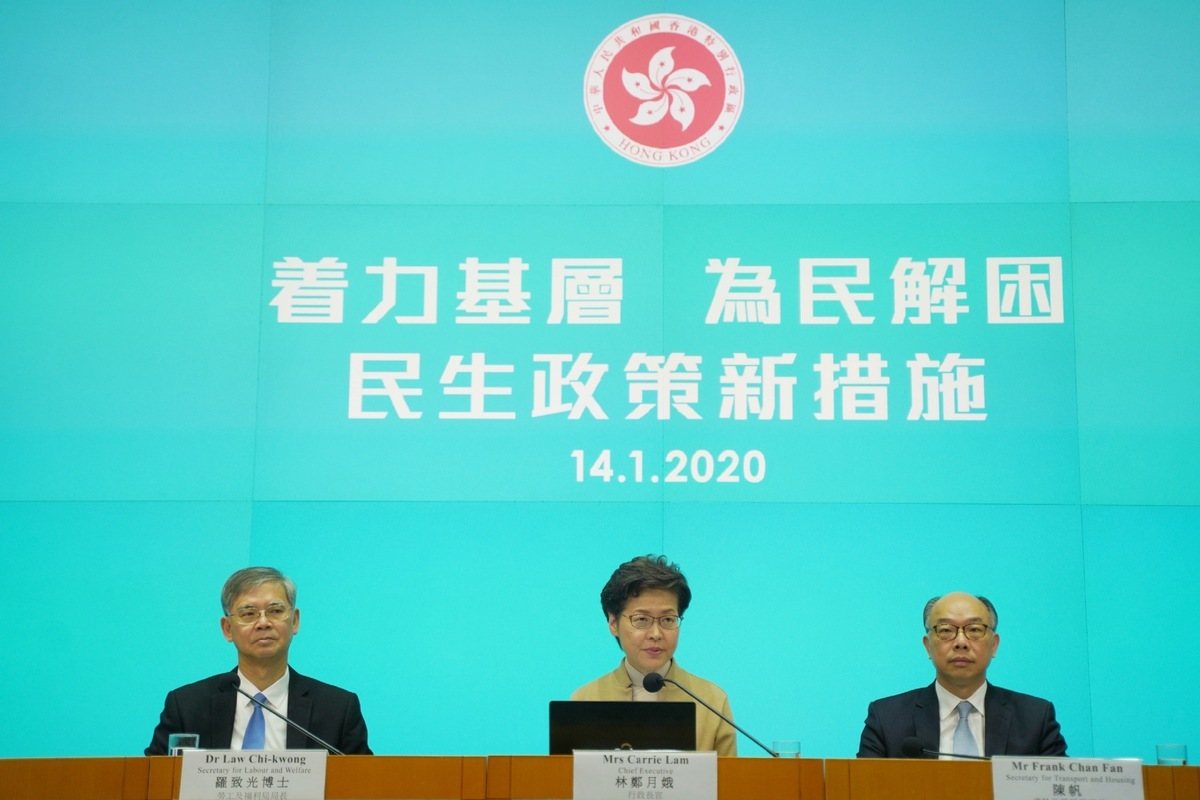 HK govt to spend extra HK$10 billion to address livelihood issues