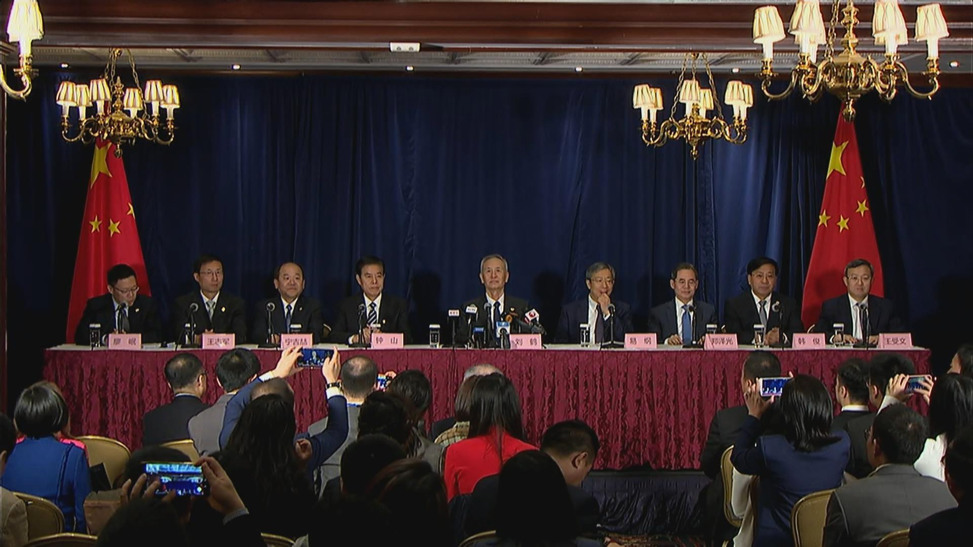 Chinese Vice Premier Liu He addresses media after signing phase one trade deal