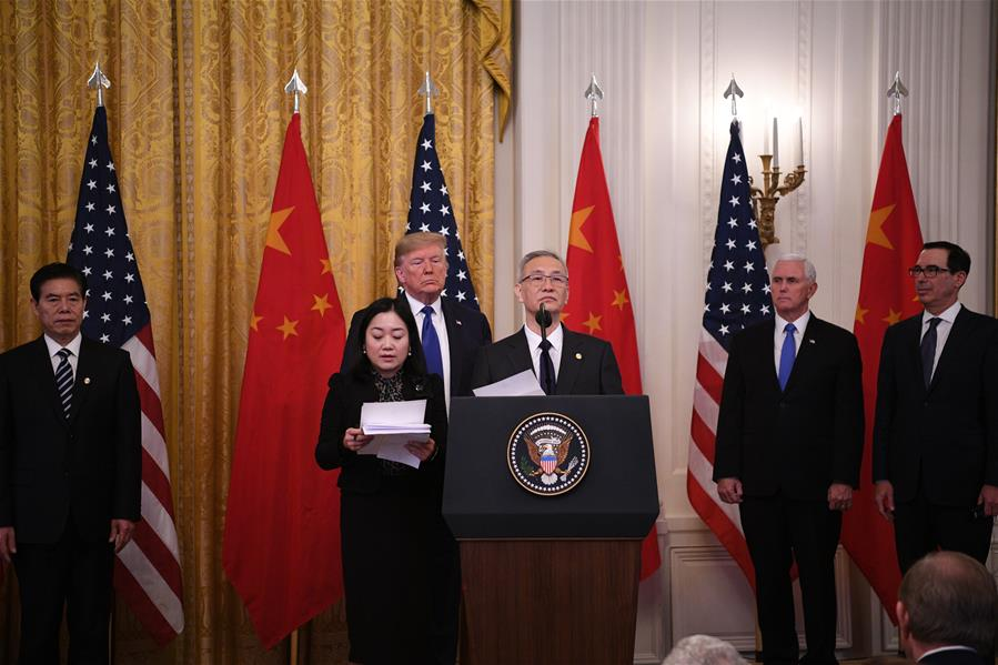 Phase-one trade deal good for China, US and world, says Xi