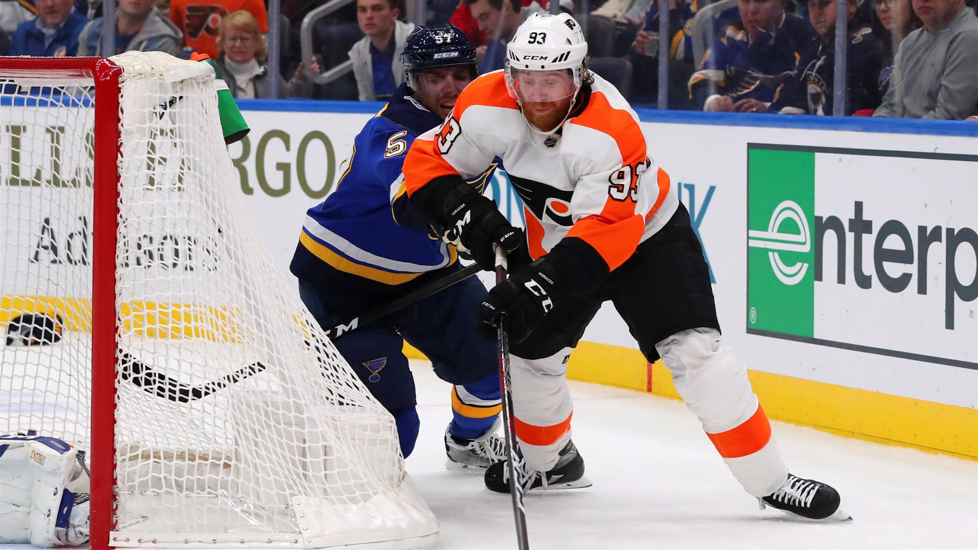 Voracek scores in OT, Flyers beat Blues 4-3
