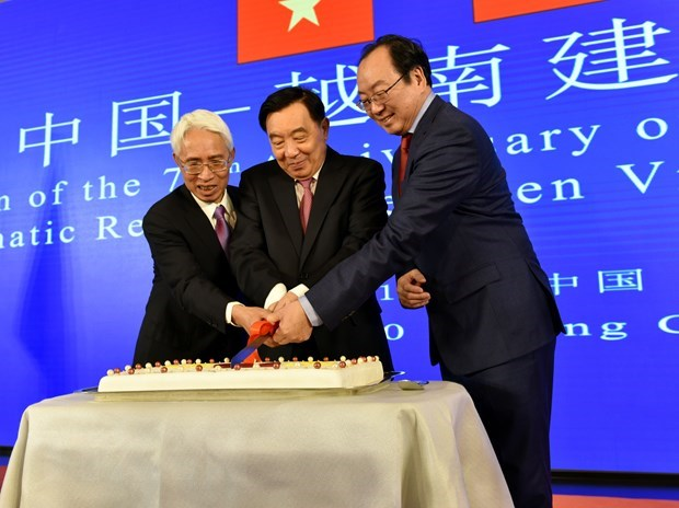 Reception held in Hanoi to celebrate 70th anniversary of China-Vietnam diplomatic ties