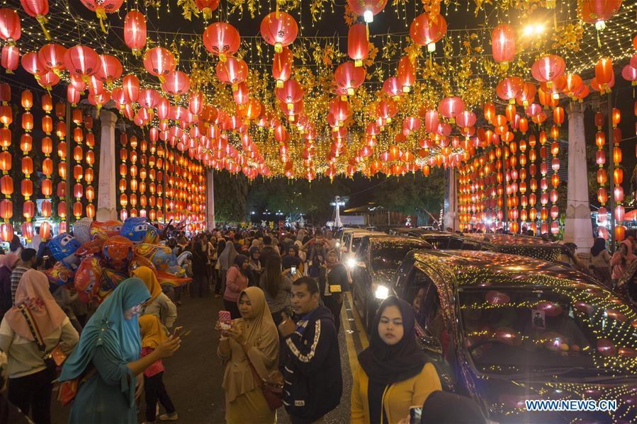 In pics: lantern decorations for upcoming Chinese New Year at China Town in Indonesia