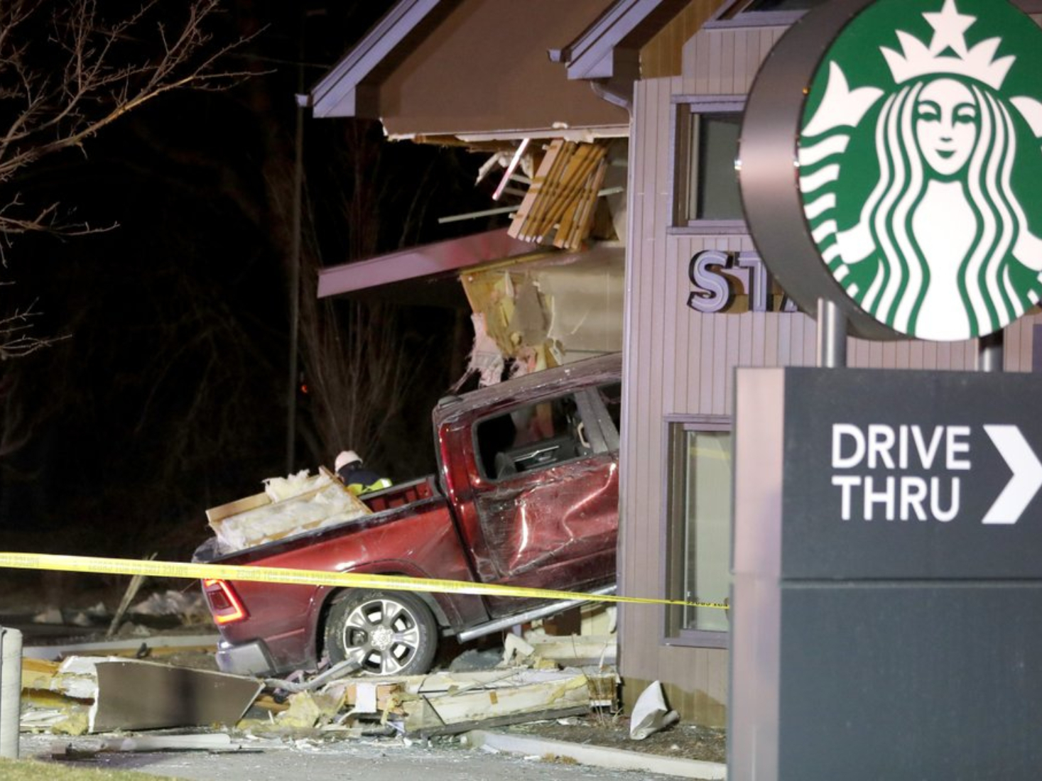 Truck slams into Illinois Starbucks; 4 sent to hospitals
