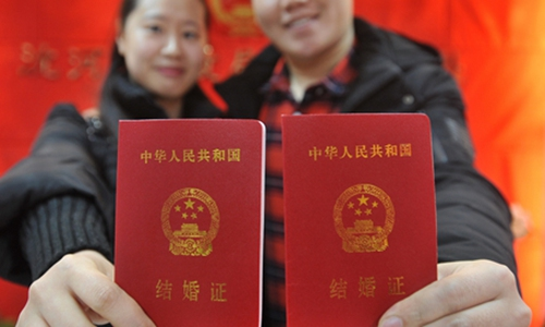 Number of couples registering for marriage hits 10-year low
