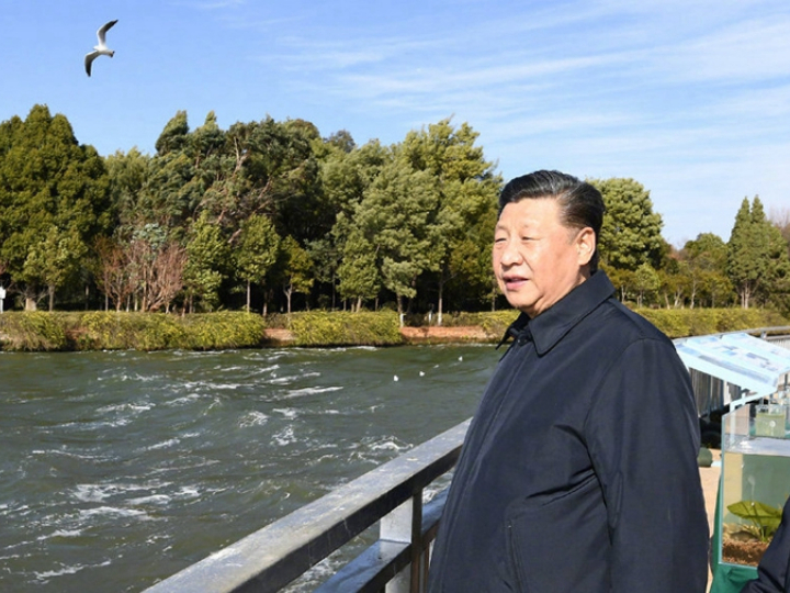 Xi stresses environmental protection to benefit humanity