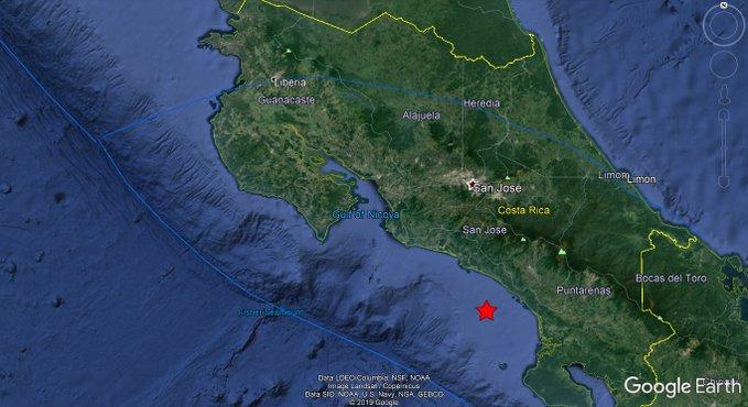 5.0-magnitude quake hits 41km SSE of Quepos, Costa Rica: USGS