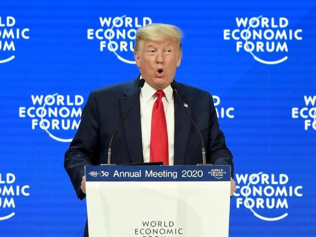 Trump attends World Economic Forum annual meeting in Davos, Switzerland