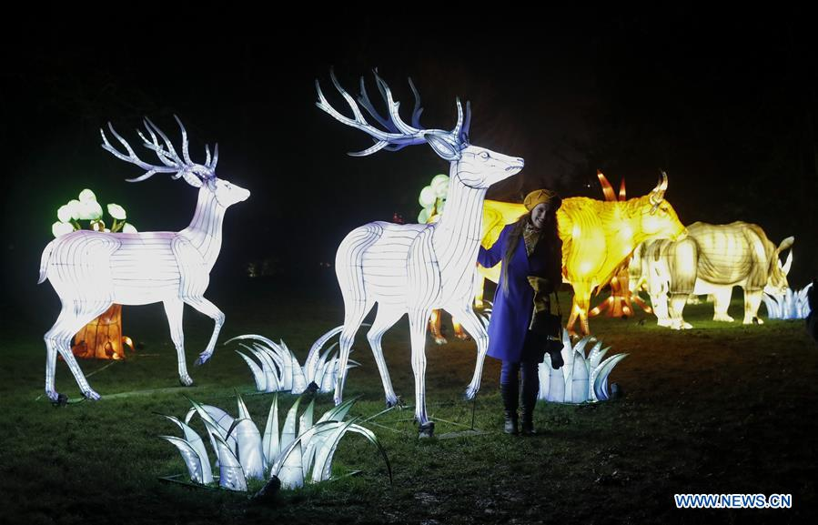 Lightopia Festival held in London, Britain