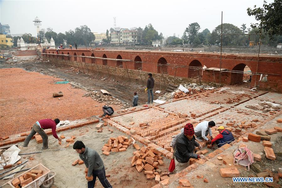 In pics: reconstruction site of historical Ranipokhari pond in Kathmandu, Nepal