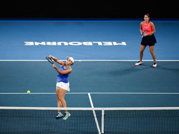 Highlights of women's doubles first round at 2020 Australian Open