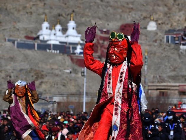 Religious ceremony held to pray for smooth year in Tibet