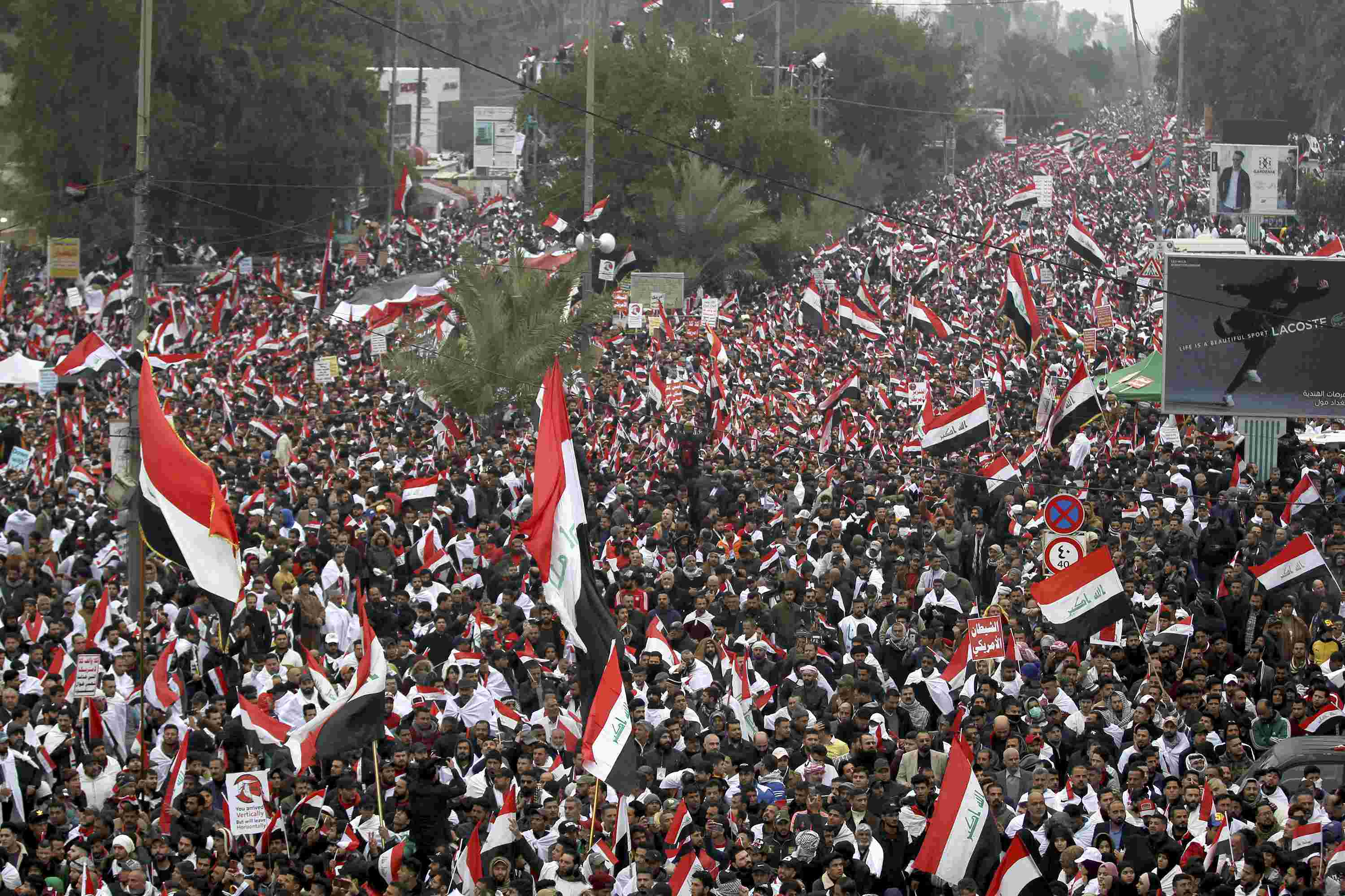 Iraq protesters demand expulsion of US troops
