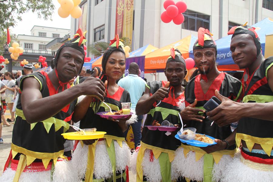 Chinese community celebrate Lunar New Year in Nigeria's economic hub