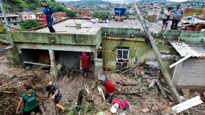 Death toll from heavy rains rises to 14 in Brazil