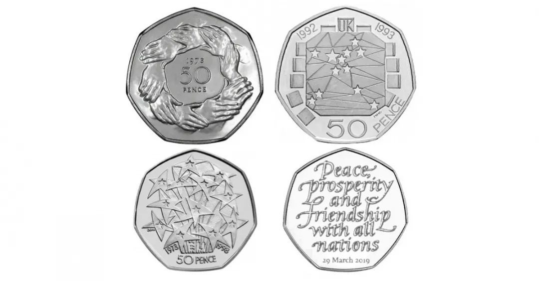 Brexit commemorative 50p coin unveiled in UK