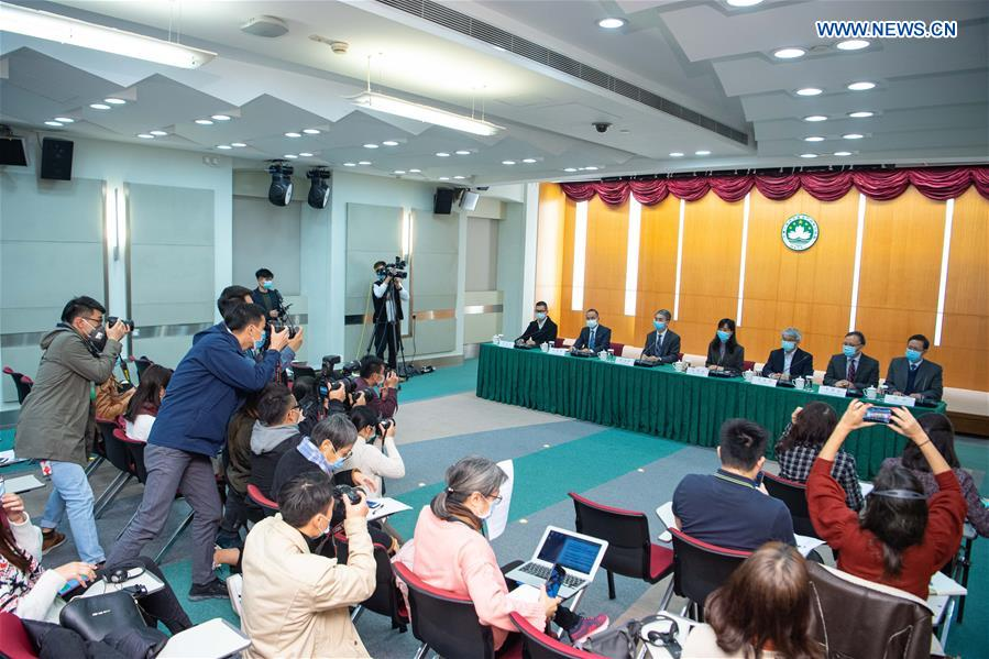 Press conference held by Novel Coronavirus Response and Coordination Center of China's Macao SAR government