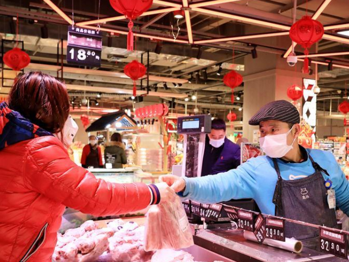 E-commerce platforms, local markets in Shanghai make efforts to ensure food supply during Spring Festival holidays