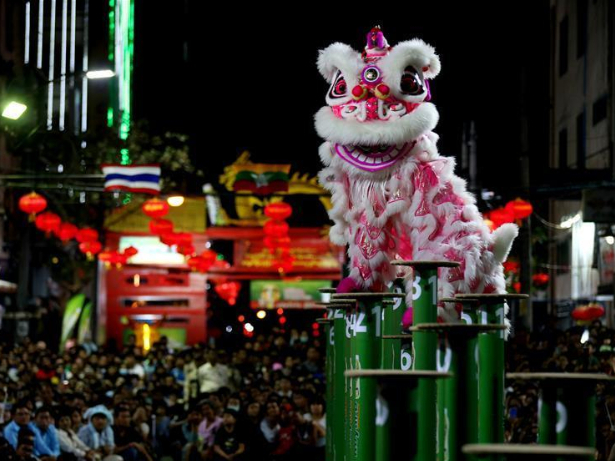 Chinese lion, dragon dance competition kicks off in Myanmar's Yangon