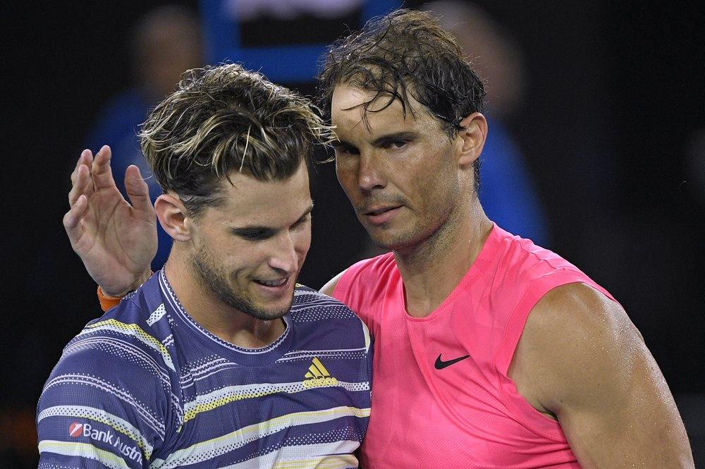 No. 1 Nadal upset by Thiem in Australian Open quarterfinals