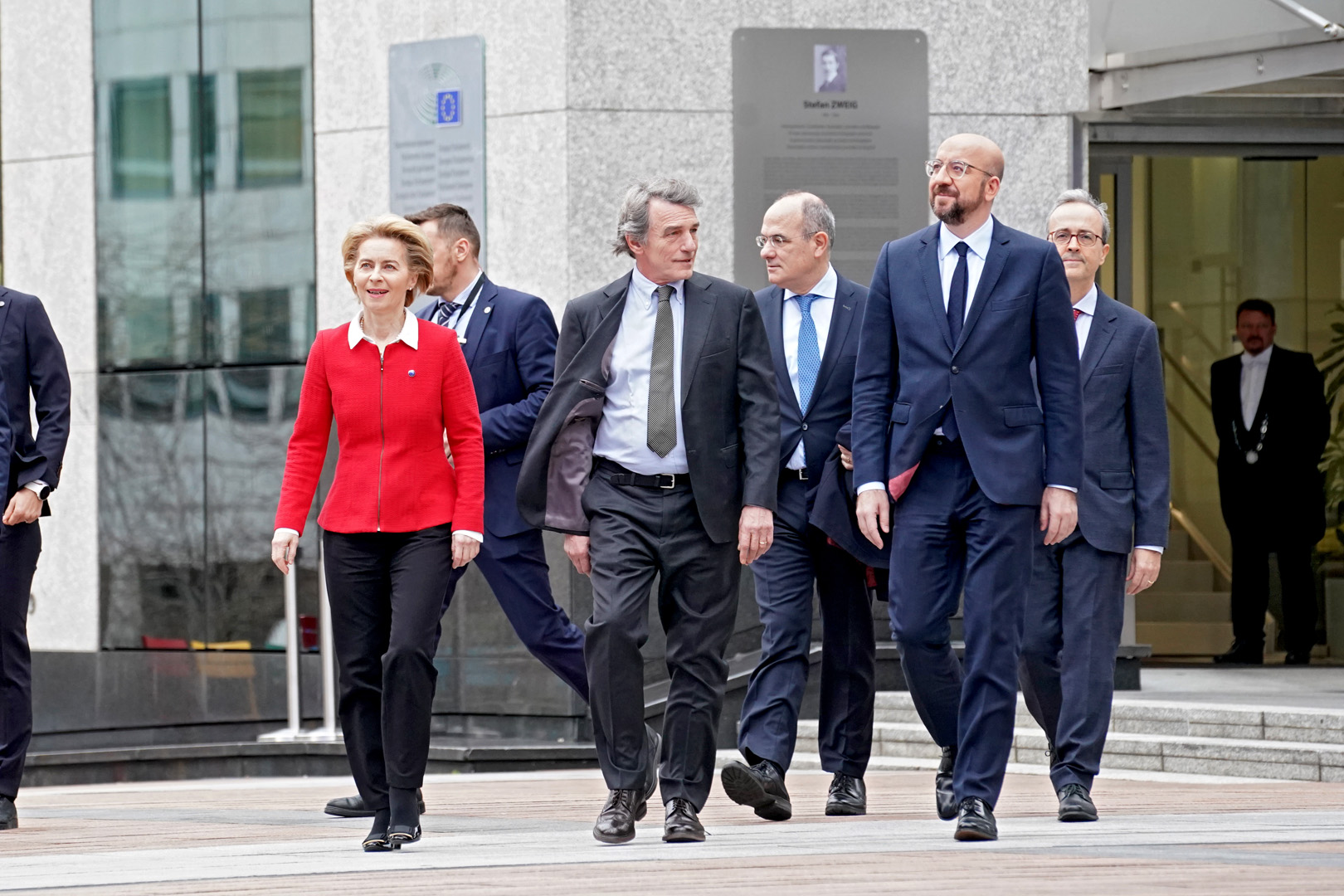 EU leaders herald 'new dawn for Europe' on Brexit day