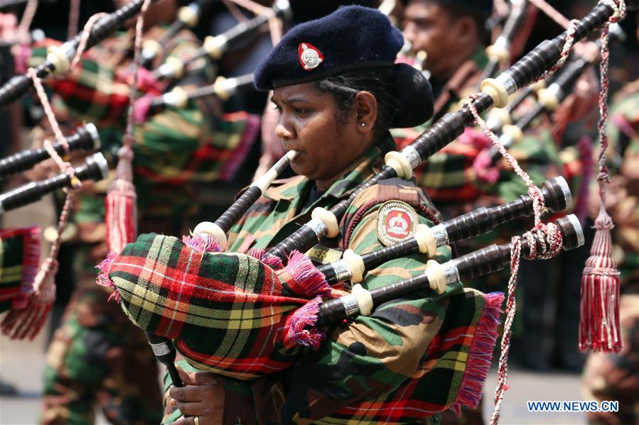 Independence Day parade rehearsal held in Colombo, Sri Lanka