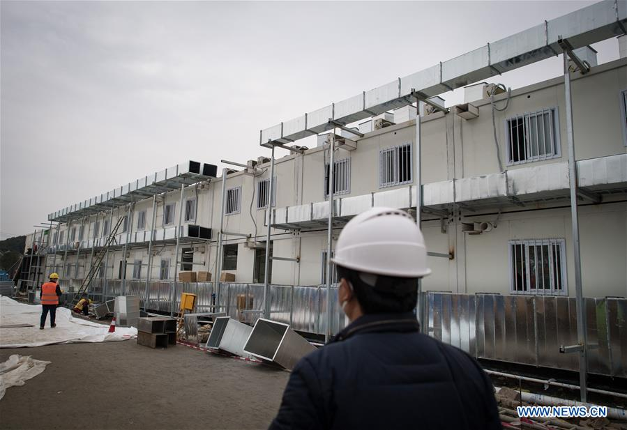 Construction of Huoshenshan Hospital to be completed Sunday