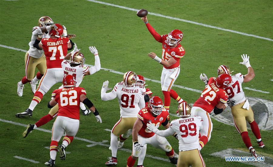 NFL Super Bowl LIV football game: Kansas City Chiefs vs. San Francisco 49ers