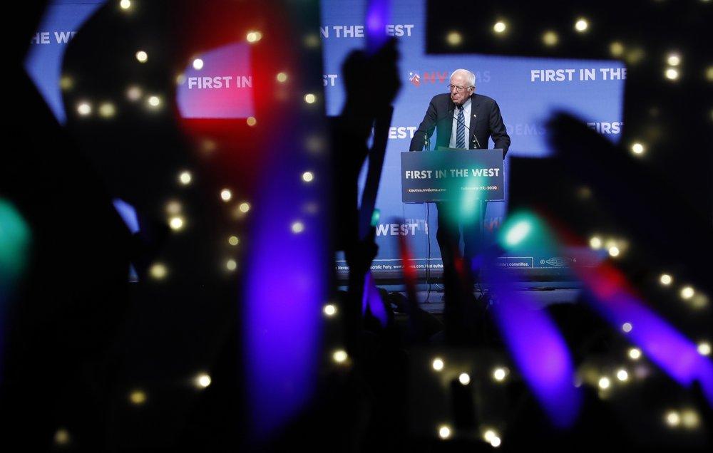Sanders claims Iowa lead, ahead of Buttigieg