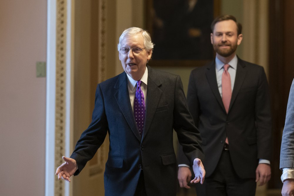 US Senate so far split neatly along party lines on impeachment