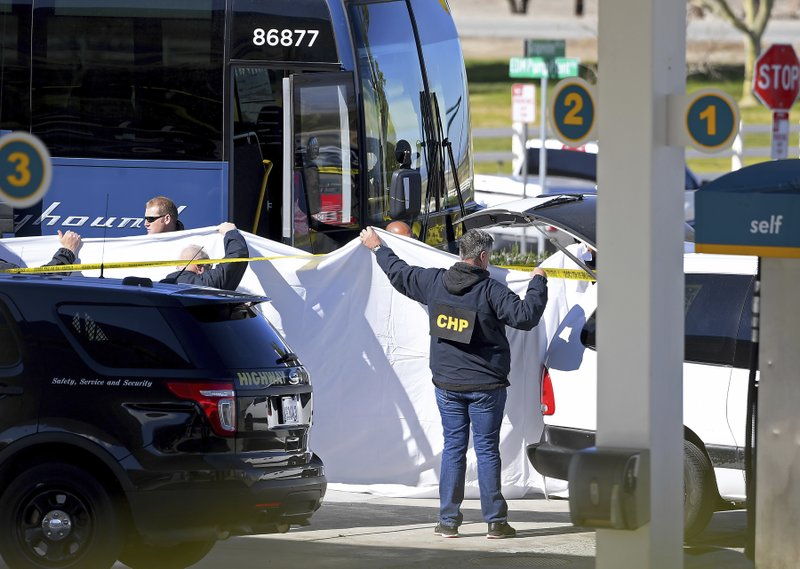 Maryland man held in bus shooting that killed 1, wounded 5