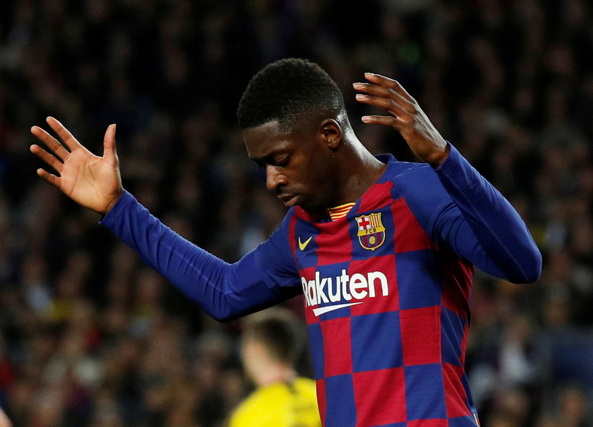 Barcelona's Dembele likely out for season