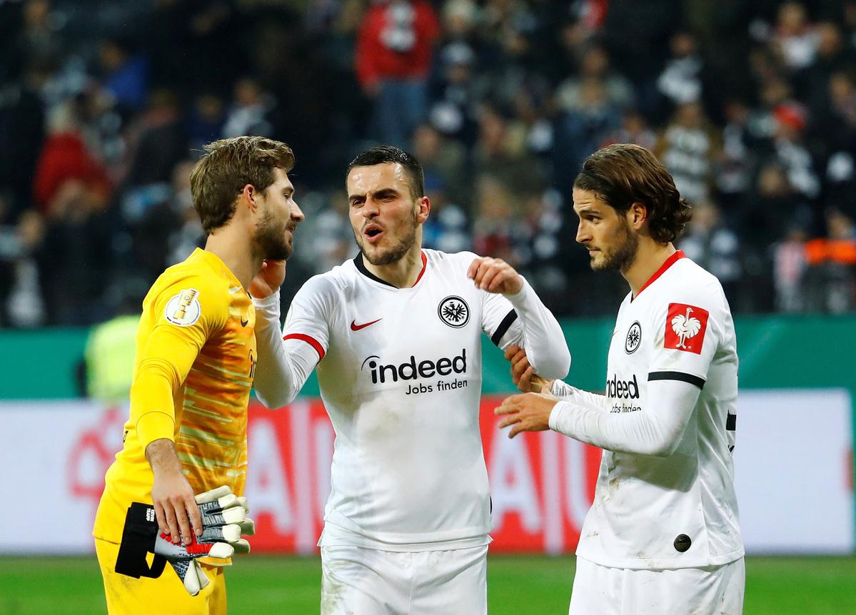 Frankfurt knockout Leipzig into German Cup quarters