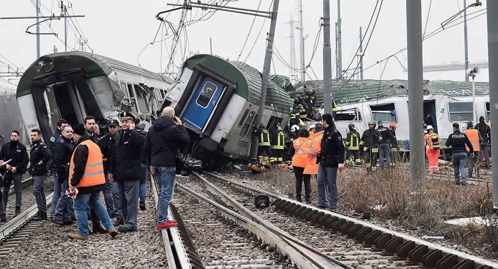 Two rail workers dead as train derails near Milan