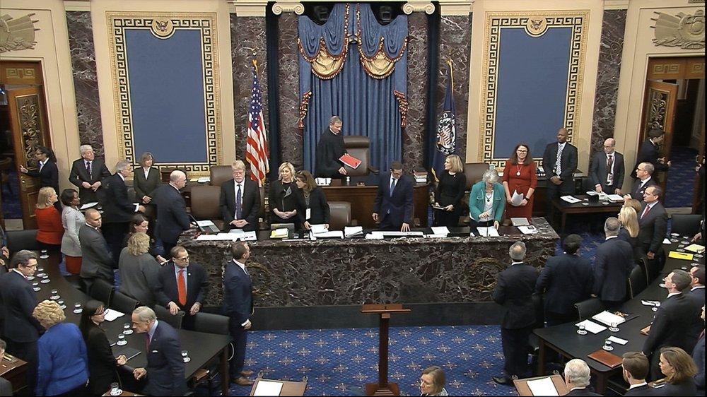 US Senate rejects impeachment articles against Trump